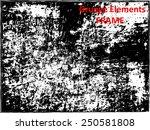 grunge frame   abstract texture.... | Shutterstock .eps vector #250581808