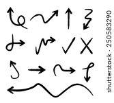 sketch arrows  doodle arrows | Shutterstock .eps vector #250583290