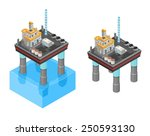 oil or gas rig drilling for...   Shutterstock .eps vector #250593130