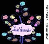 hand drawn fantastic  tree ... | Shutterstock .eps vector #250596559