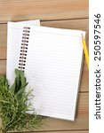 blank notebook and pencil with... | Shutterstock . vector #250597546