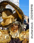 golden mask with decorations... | Shutterstock . vector #250598998