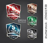metallic 5 years warranty...   Shutterstock .eps vector #250601938