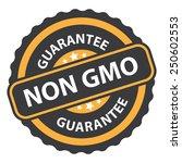 non gmo guarantee on orange... | Shutterstock . vector #250602553