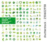 big set of vector icons ecology, health, natural  | Shutterstock vector #250602958
