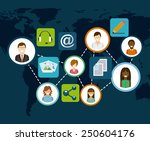 social network design  vector... | Shutterstock .eps vector #250604176