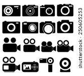 camera icons | Shutterstock .eps vector #250605253