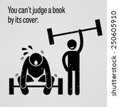 you cannot judge a book by its... | Shutterstock .eps vector #250605910