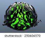 black sphere shattered abstract ... | Shutterstock . vector #250606570