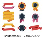 collection of labels and... | Shutterstock .eps vector #250609270
