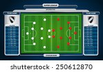 soccer playing field with... | Shutterstock .eps vector #250612870