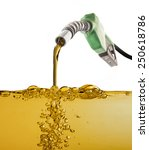 nozzle pumping gasoline in a... | Shutterstock . vector #250618786