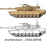 american abrams battle tank   Shutterstock .eps vector #250618948