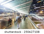 Commuters Walking Along An...