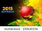 illustration of cricket ball in ... | Shutterstock .eps vector #250630156