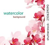 Watercolor Magnolia Flowers...