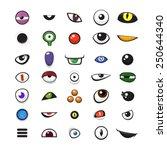 set of cartoon vector monster... | Shutterstock .eps vector #250644340
