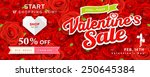 happy valentine's day banners... | Shutterstock .eps vector #250645384