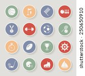 round sports icons. raster... | Shutterstock . vector #250650910