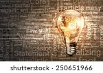 conceptual image with light... | Shutterstock . vector #250651966
