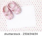 Blank Card With Baby Girl Shoe...