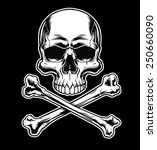 skull and crossbones on black | Shutterstock .eps vector #250660090