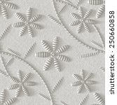 3d  floral ornament on a white... | Shutterstock . vector #250660858