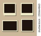 vector photo frame. vector... | Shutterstock .eps vector #250664863