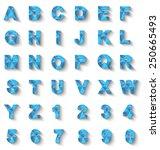 alphabet new style modern blue | Shutterstock .eps vector #250665493