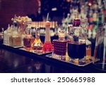 bitters and infusions on bar... | Shutterstock . vector #250665988