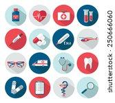 set of medical health care flat ... | Shutterstock .eps vector #250666060