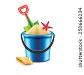Toy Bucket And Spade Isolated...