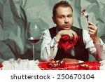 baroque supper of blue blood...   Shutterstock . vector #250670104