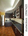 interior of modern kitchen in... | Shutterstock . vector #25067623
