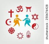 interfaith dialogue... | Shutterstock .eps vector #250676428