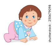 little baby boy. vector image.... | Shutterstock .eps vector #250679098