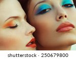 beautiful couple of models with ...   Shutterstock . vector #250679800