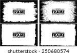 grunge frame set texture  ... | Shutterstock .eps vector #250680574
