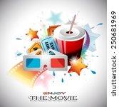vector abstract cinema design... | Shutterstock .eps vector #250681969