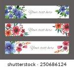 set of watercolor flower design ... | Shutterstock . vector #250686124
