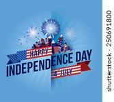 happy 4th july independence day ... | Shutterstock .eps vector #250691800