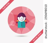 female student flat icon with... | Shutterstock .eps vector #250698010