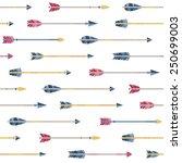 retro indian ethnic arrows... | Shutterstock .eps vector #250699003