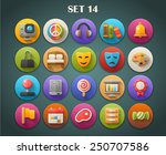round bright icons with long... | Shutterstock .eps vector #250707586