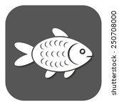 the fish icon. fish symbol.... | Shutterstock .eps vector #250708000