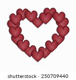 design border hearts  | Shutterstock .eps vector #250709440