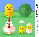 farm animals  vector | Shutterstock .eps vector #250711450