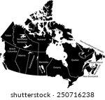 canada map | Shutterstock .eps vector #250716238
