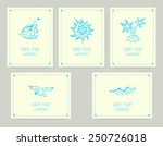 set of cards with sea symbols | Shutterstock .eps vector #250726018