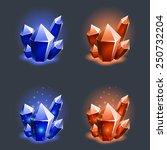 crystals resources. vector...